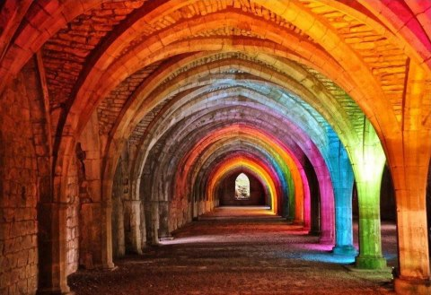 Coloured archways